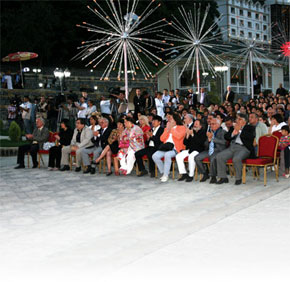 The festival opening ceremony in Gabala