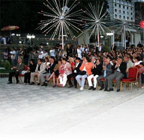 The festival opening ceremony in Gabala