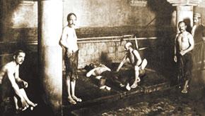 In a hamam (bathhouse). Early 20th century