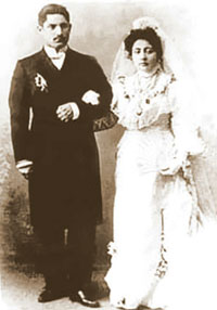 Wedding of major oil industrialist Balabey Ashurov - from a family of Baku beys. 1904