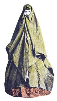 Woman in a vell. Late 19th century