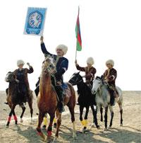 Chovgan (polo) contest for the Presidential Cup. Sheki 2009