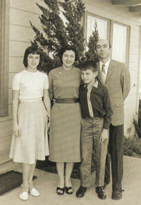 Lotfi Zadeh with his wife Faina, son Norman and daughter Stella