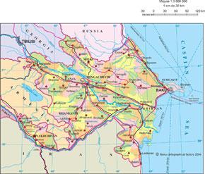 Political map of Azerbaijan