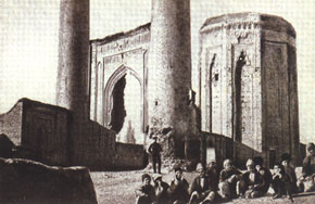 The 12th century mausoleum of Momina-khatun, in 1898