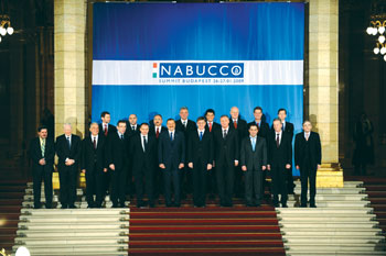 Leaders at the Nabucco summit on supplying gas from the Caspian basin to Europe