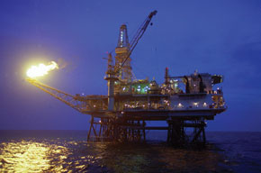 Oil platform in the Caspian