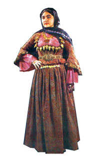 Azerbaijani woman in national costume