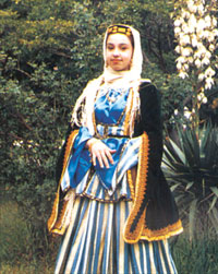 Azerbaijani girls in national costumes