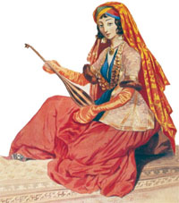 Shamakhi Girl, painting by Gagarin