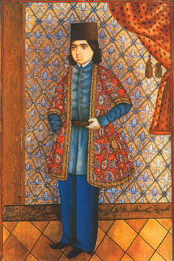 Portrait of a Young Man by Mirza Qadim Iravani 1825-1875, water colour. Azerbaijan Art Museum, Baku