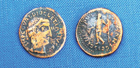 Roman copper coin