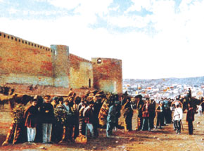 Outside the city walls in the 19th century