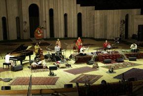Shahin Novrasl, Alim Qasimov and Farqana with musicians at Baku´s Green Theatre