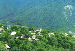 The village of Kish, Sheki District