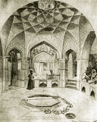 Interior of the Public Bath House in Shamakhi by Gagarin
