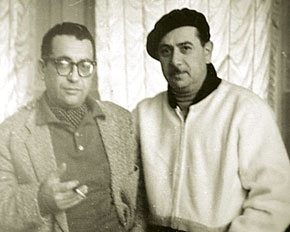 Tofiq Quliyev with his childhood friend Qara Qarayev, another prominent Azerbaijani composer and USSR Public Artist