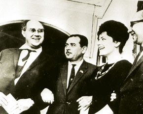 Cellsit Mstislav Rostropovich, his wife opera singer Maria Vishnevskaya and Tofiq Quliyev
