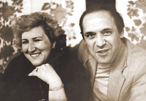 Hamlet Khanizada with his wife