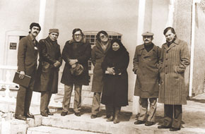 Before meeting the audience (Hamlet Khanizada second from the left)