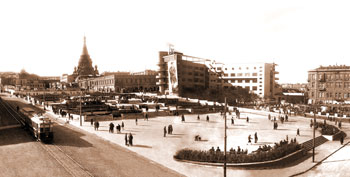 Part of Parapet Square, 1930s (now Nizami square)