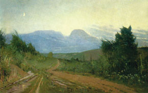 Road to Gyz-Banovsha, oil on canvas. 1953