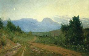 Road to Gyz-Banovsha, oil on canvas. 1953