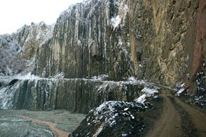 Mountain road to Lahij District