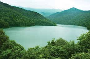 Lake GoyGol, Goygol District. Its mysterious natural beauty makes Goygol a popular eco-tourism centre in Azerbaijan