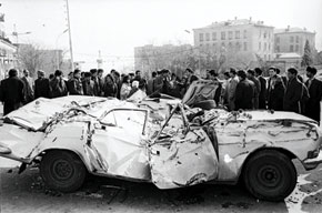 The destruction caused by the Soviet Army on the night of 20 January