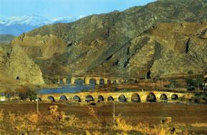 The Khudafarin bridge on the Araz River, connecting North and South Azerbaijan