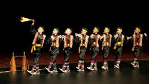 The Eagles enter for the Zorkhana dance