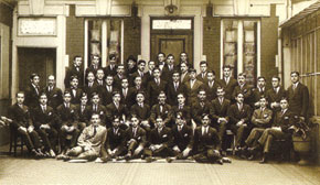 Azerbaijani students in Paris. 1920