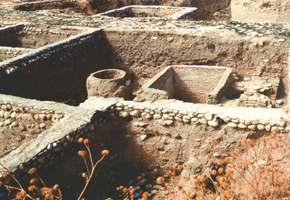 The ruins of ancient town Shabran, Devechi district