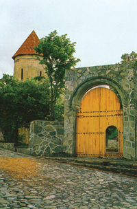 The entrance of to the Museum of the history and culture of Caucasian Albania. Kish village, near Sheki
