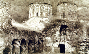 Khudavank, the church of Uzun Gasan is on the front view, XIII century, Qazakh and Tovuz district