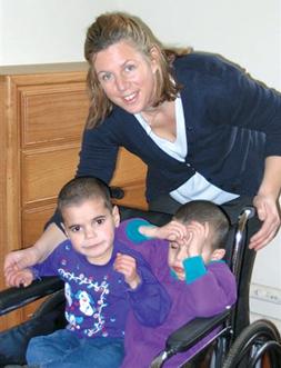 Gwendolyn Burchell with Leyla and Nigar