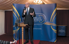 Azerbaijan´s Ambassador to the UK Mr Fakhraddin Qurbanov speaks at the launch of TEAS