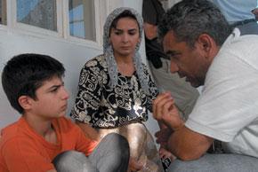 Elchin directs Hasan Safarov and Gular Nadiyeva, who play Rustam and his mother Leyla respectively