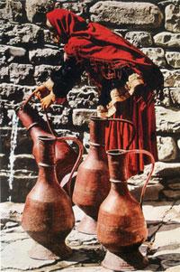 Shusha woman at the spring
