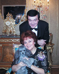 Muslum Maqomayev, his wife opera singer Tamara Sinyavskaya and Charli