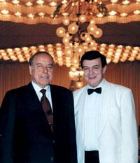 Muslum Maqomayev with Heydar Aliyev, Azerbaijani president