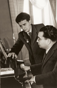 Qara Qarayev and Jovdat Hajiyev, another prominent Azerbaijani composer