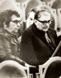 Qara Qarayev and Russian composer Shostakovich