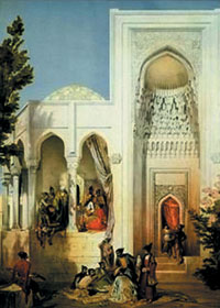 The Palace of the Shirvanshahs, painted by Gagarin, 1889