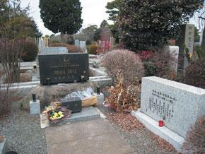 Sorge´s grave in Tokyo Tama Cemetery, Japan