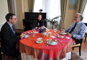 Yves Zoberman, director of the Institut Français in Azerbaijan, Jeyran Bayramova and H.E. Pascal Meunier