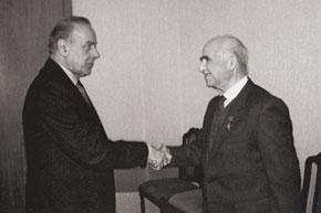 Heydar Aliyev, President of Azerbaijan (1993-2003), meeting Karimov