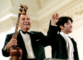 Ramiz Quliyev and conductor son Ayyub