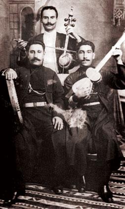 Traditional mugham trio